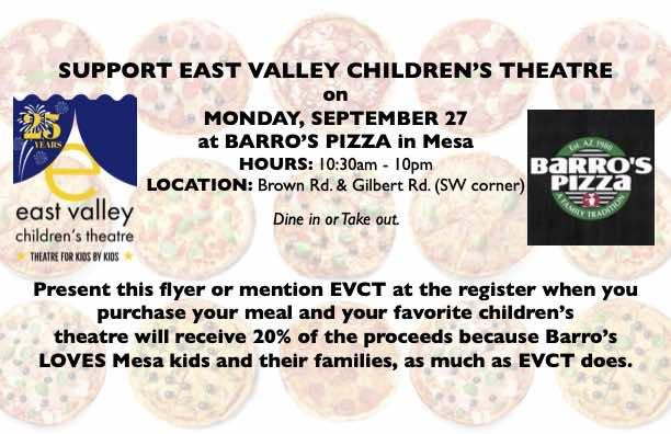 Pizza Fun at Barro's (Brown and Gilbert Roads)